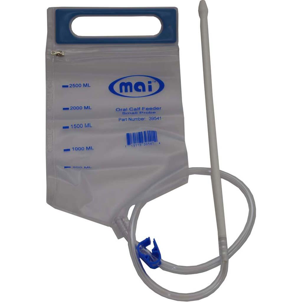 MAI Oral Calf Feeder Bag 2.5 Liter White Probe for Smaller Breeds