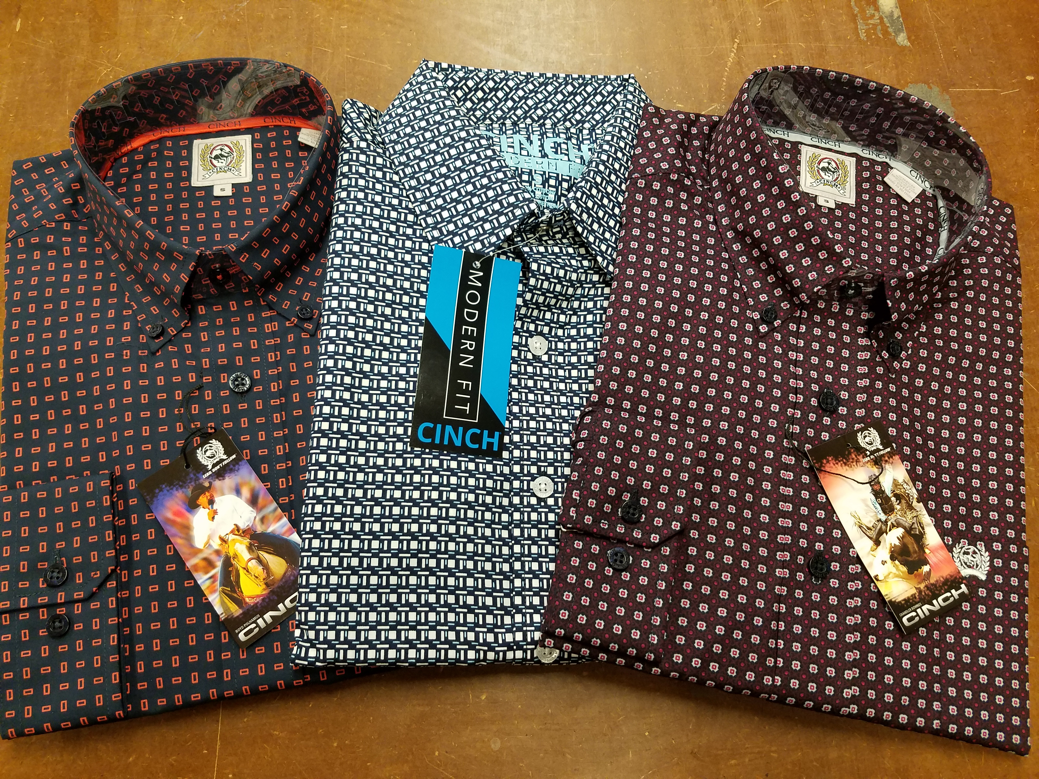 962835d0 Details about Brand New Cinch Shirts Sale Lot of 3 Size Small Long Sleeve  Dress Shirts