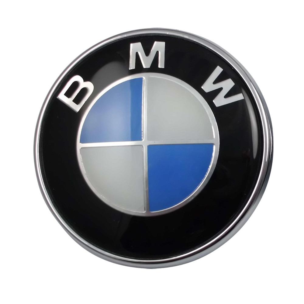 New Oem Bmw Car Emblem Chrome Front Badge Logo 82mm 2 Pins