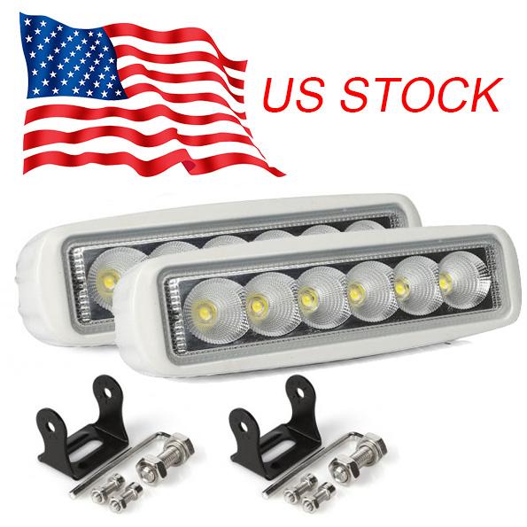 us white spreader led marine lights set of 2 for boat flood light 12v ebay. Black Bedroom Furniture Sets. Home Design Ideas