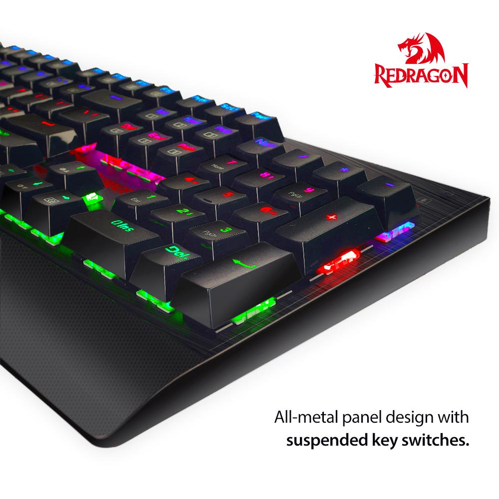 redragon k557 rgb mechanische gaming tastatur qwerty mit. Black Bedroom Furniture Sets. Home Design Ideas