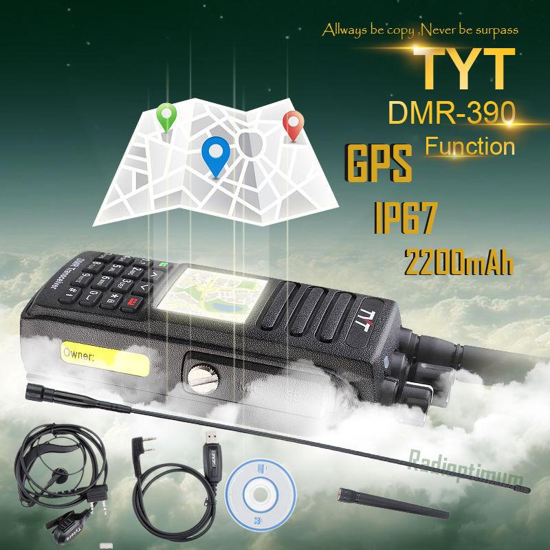 TYT MD-390 *GPS* DMR 400-480Mhz UHF 1000CH IP67 Two Way Radio US Limted Sale
