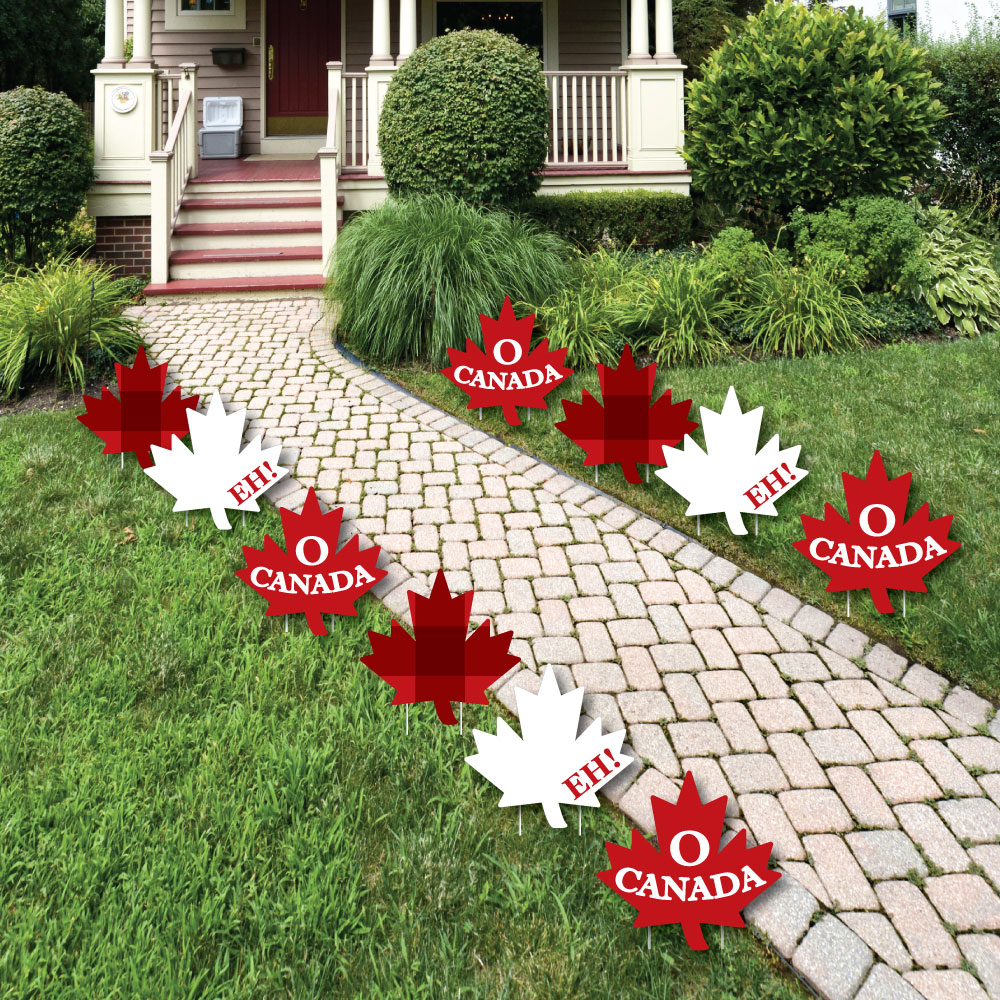 Canada Day - Maple Leaf Lawn Decorations-Outdoor Canadian Party Yard ...