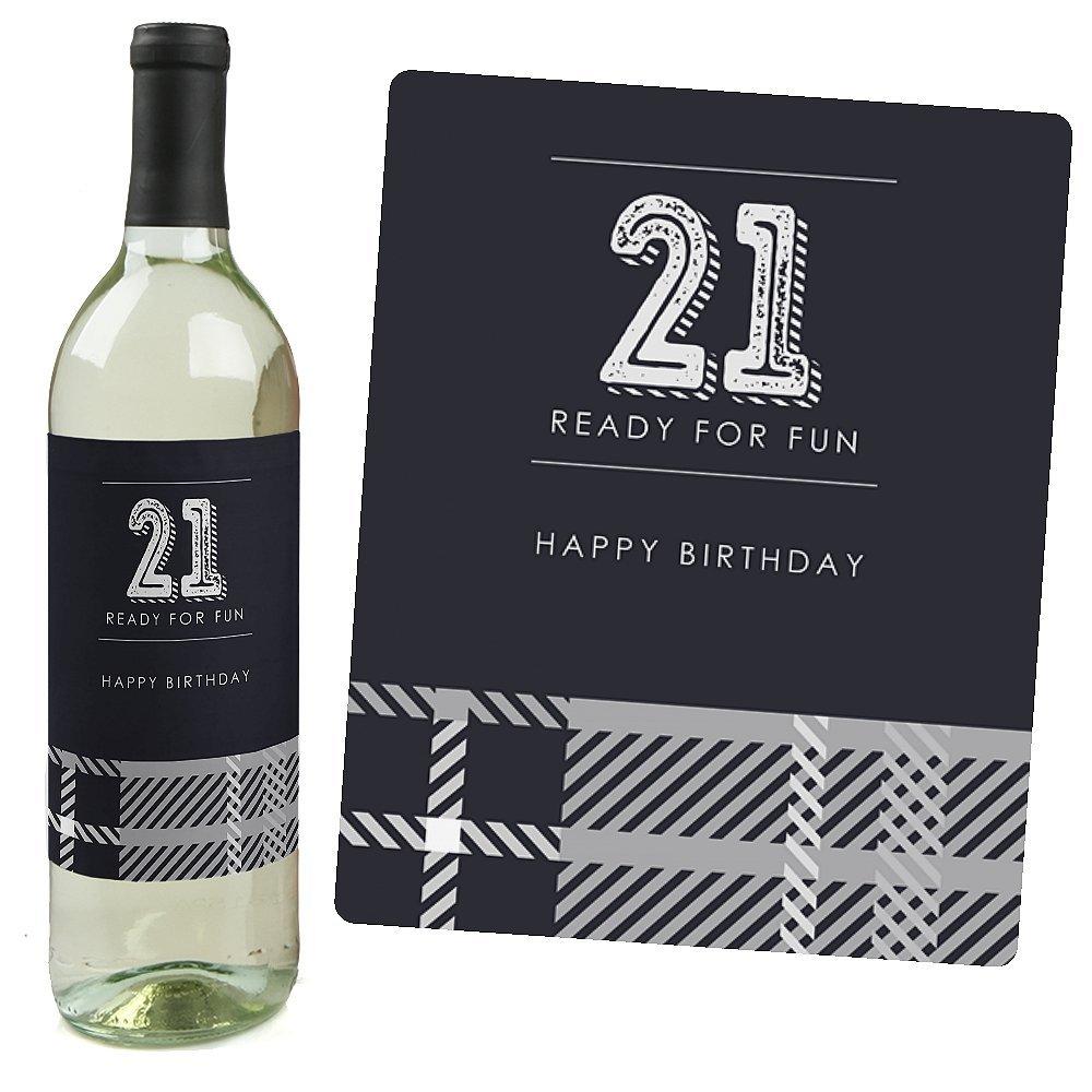 Wine Bottle Labels Birthday Gift