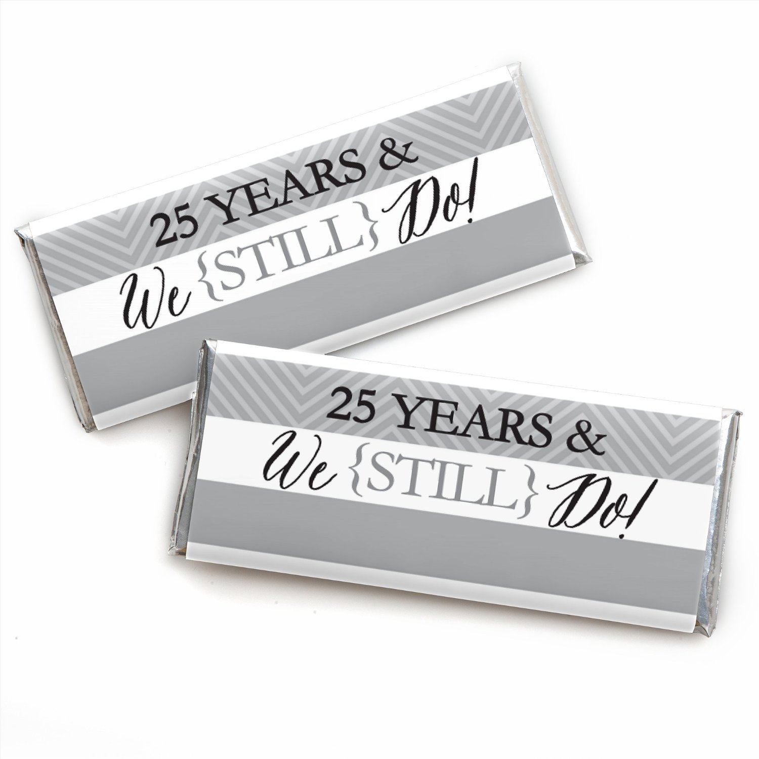 We Still Do - 25th Wedding Anniversary - Candy Bar Wrappers Favors ...