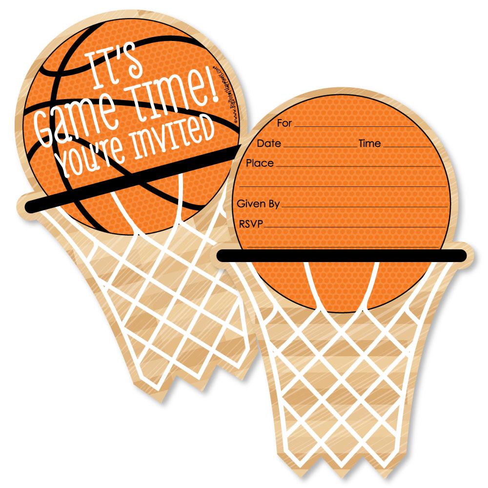 Basketball-Shaped Fill-In Invitations-Baby Shower or Birthday Party ...