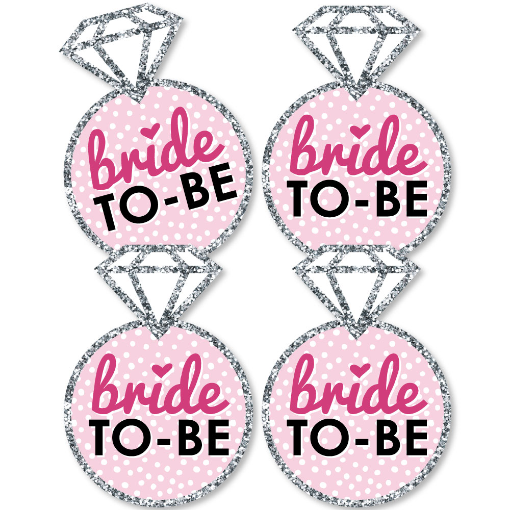 bride to be ring decor diy bridal shower or bachelorette party