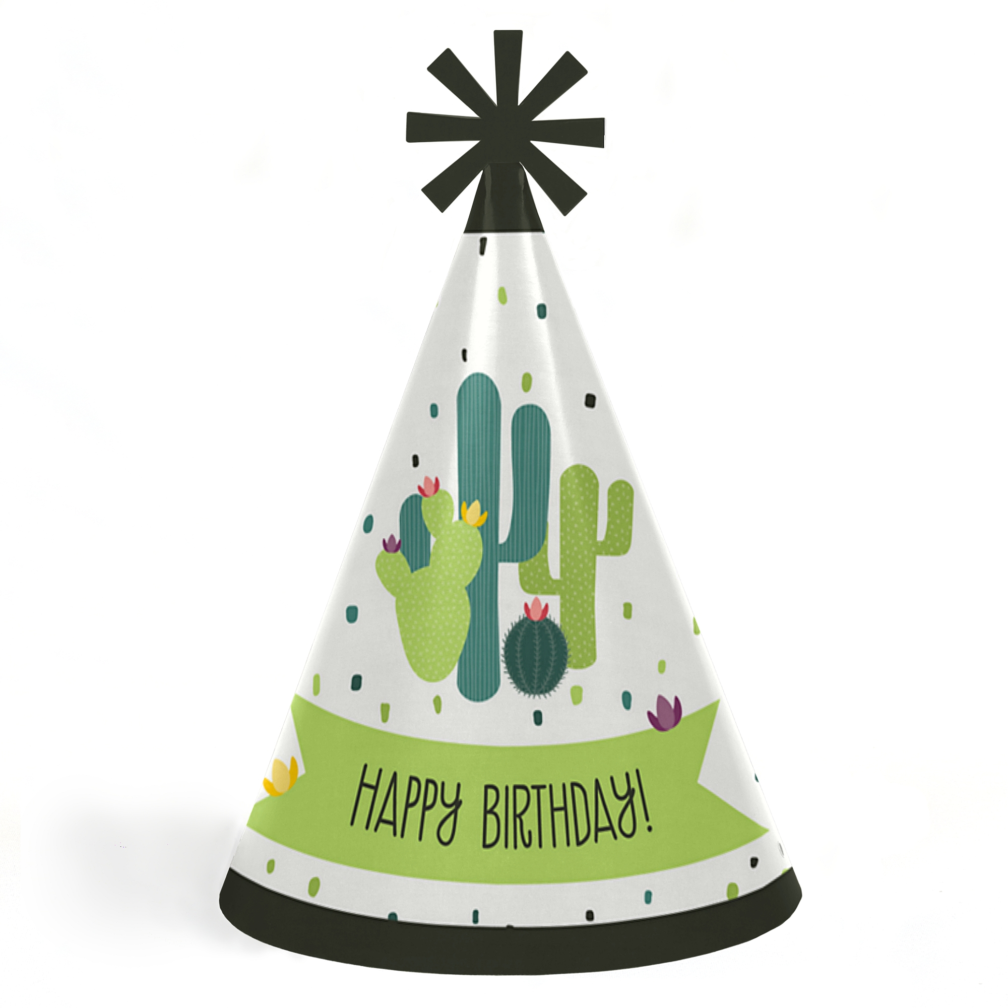 Prickly Cactus Party Cone Happy Birthday Party Hats For Kids And