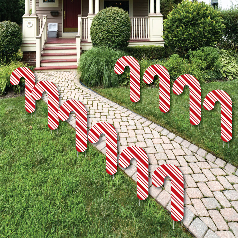 responsive image - Candy Cane Christmas Yard Decorations