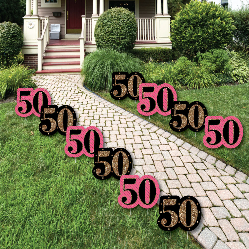 Chic 50th Birthday - Lawn Decor - Outdoor Birthday Party ...