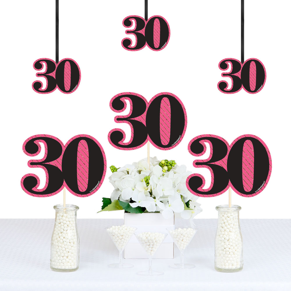 Chic 30th Birthday Decorations DIY Party Essentials Set of 20