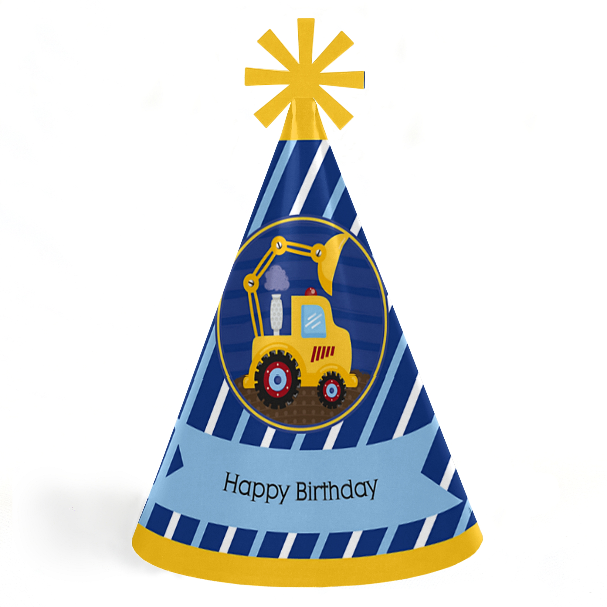 Construction Truck - Cone Happy Birthday Party Hats for Kids and ...