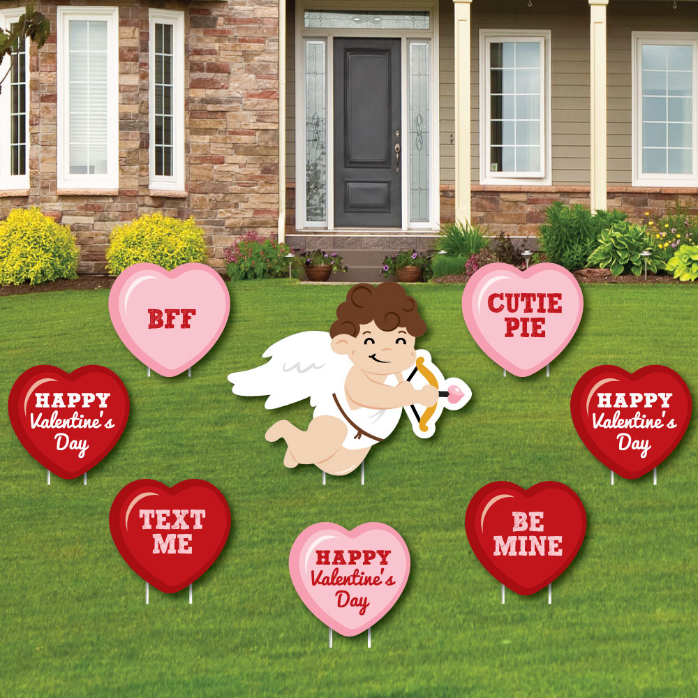 Cupid And Hearts Outdoor Lawn Decorations Valentine S Day Party