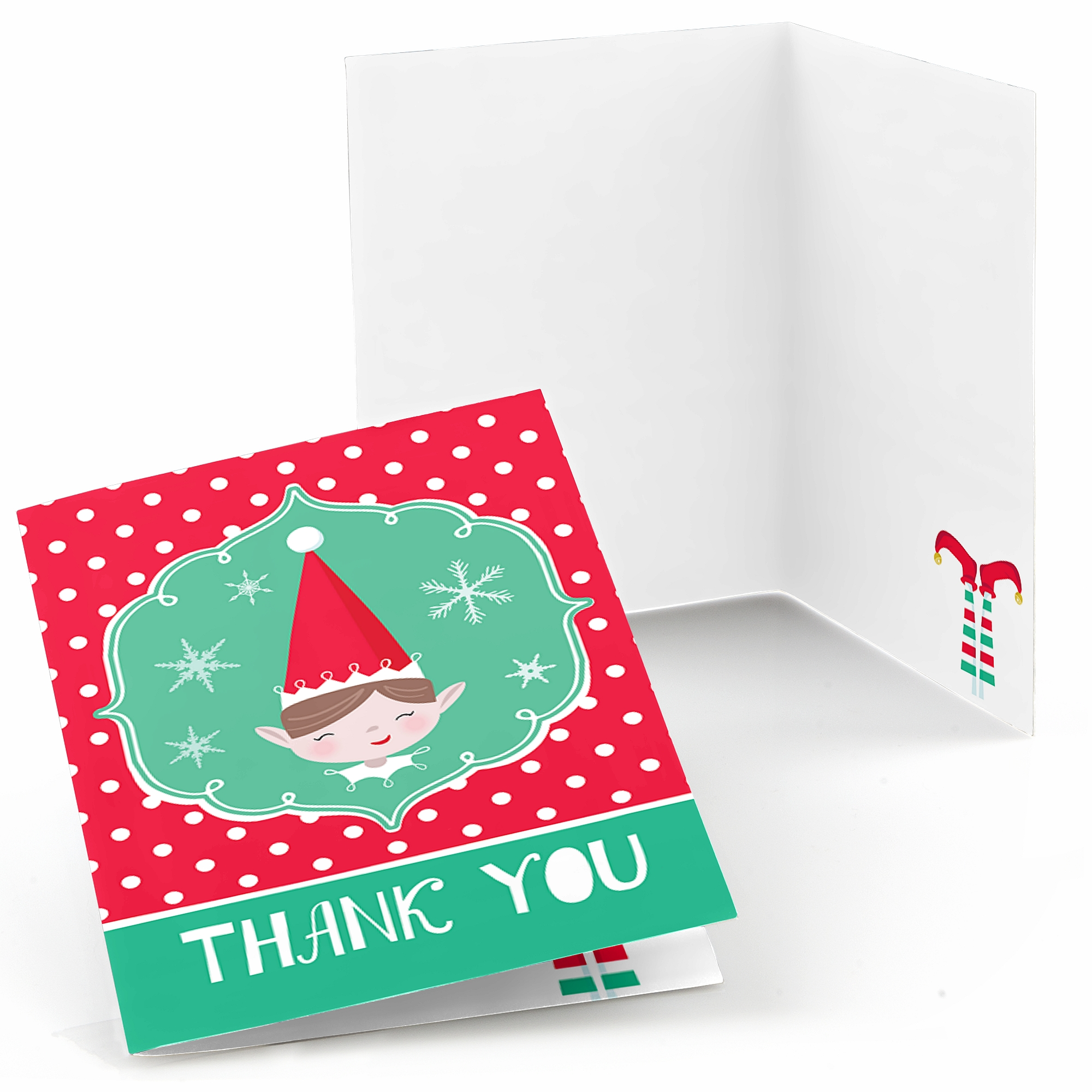 Elf Squad - Kids Elf Christmas and Birthday Party Thank You Cards (8 ...