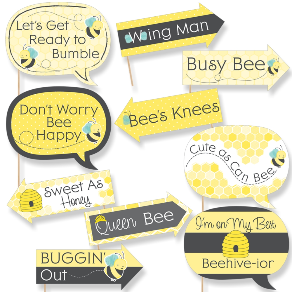 Funny Honey Bee - Baby Shower or Birthday Party Photo Booth Props ...