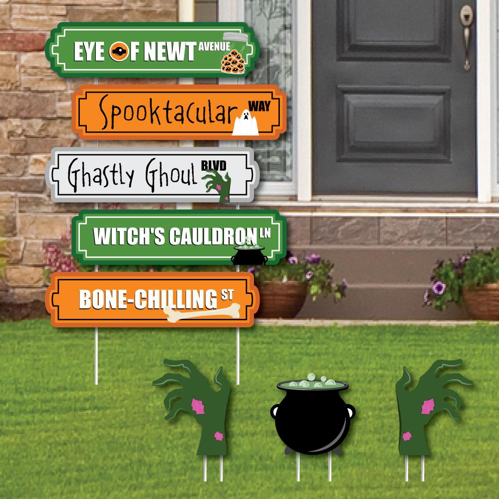 Scary Halloween Street Sign Cutouts