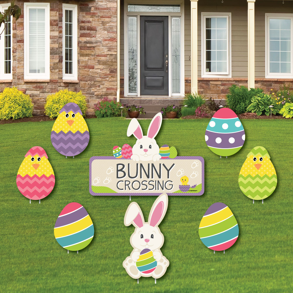 Hippity Hoppity - Outdoor Lawn Decor - Easter Bunny Party Yard Signs ...
