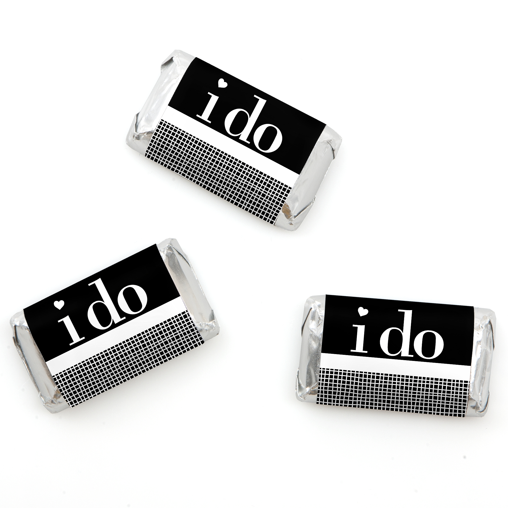 I Do - Mini Candy Bar Wrappers Wedding Favors - 20 Count ...