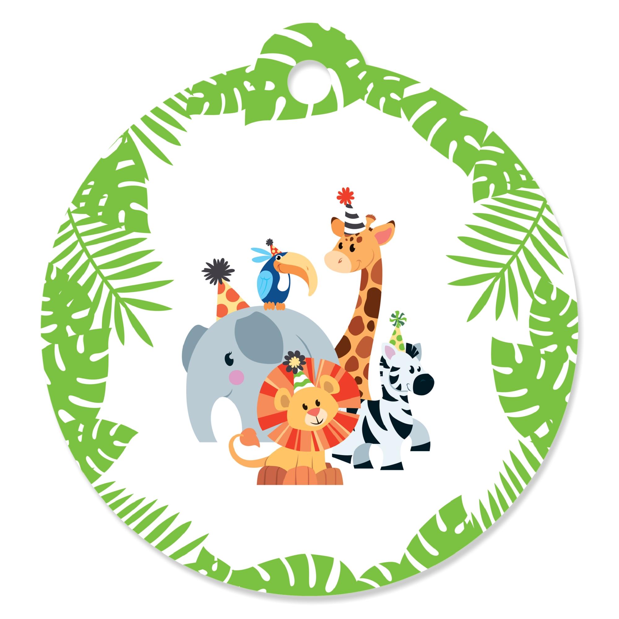 Jungle Themed Baby Shower Favor Boxes; Safari Themed Baby ... |Safari Animal Baby Shower Favors