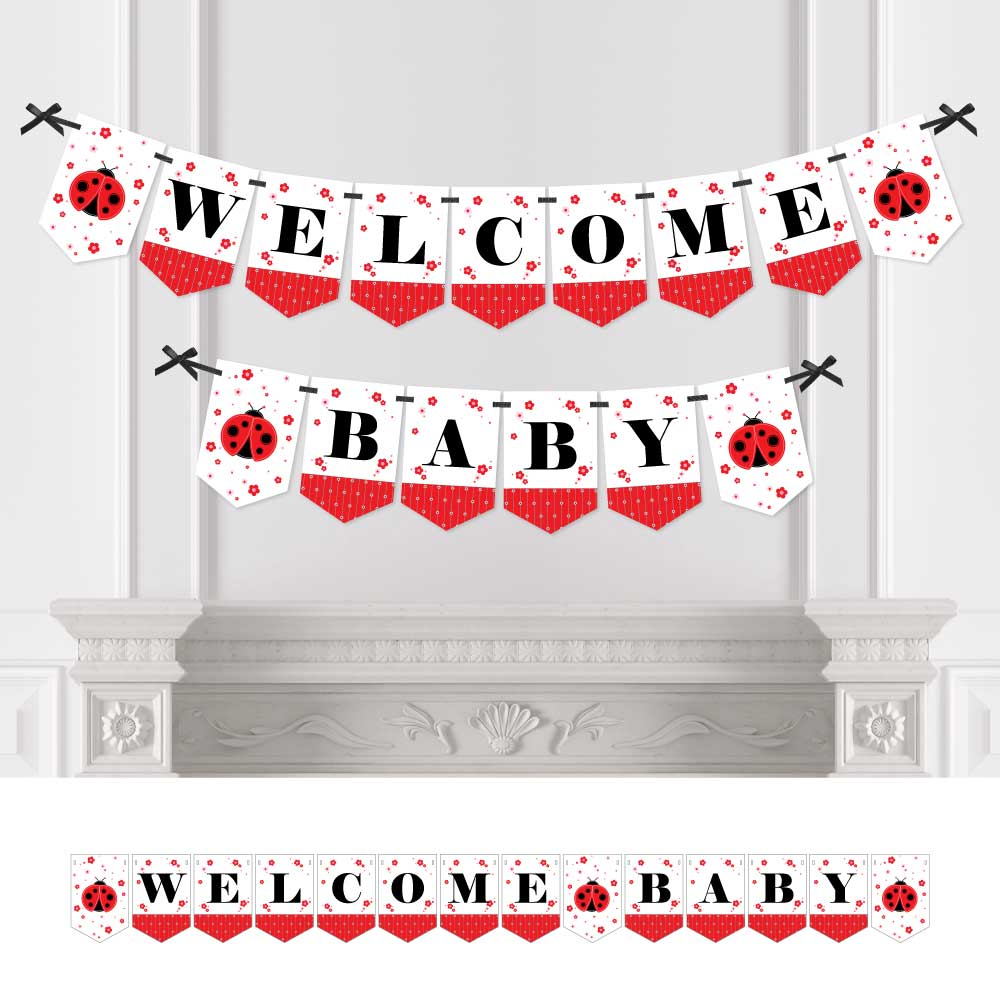 ladybug baby shower bunting banner ladybug party decorations