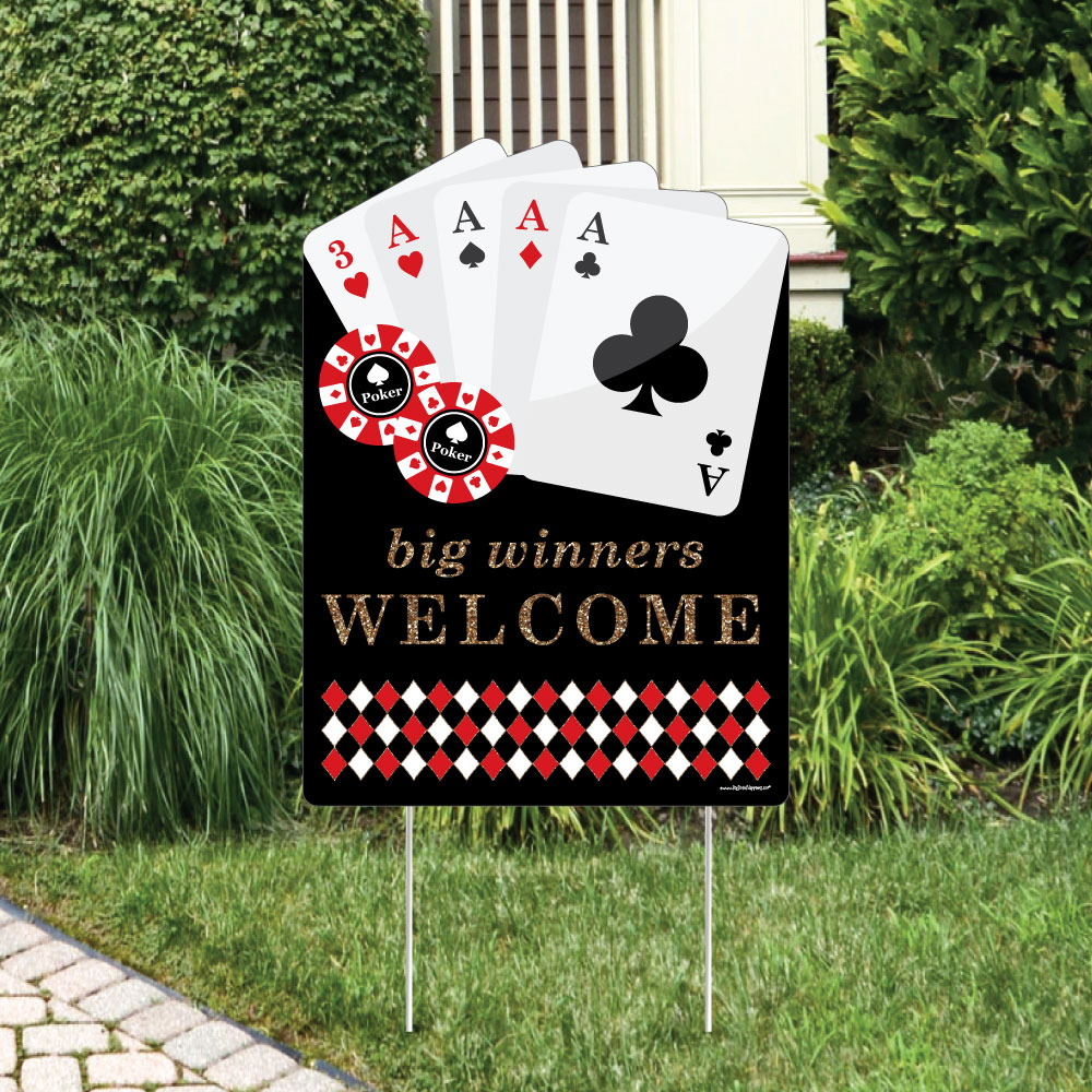 Las Vegas - Party Decorations - Casino Party Welcome Yard Sign | eBay