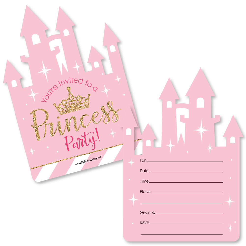 Little Princess Crown - Shaped Fill-In Baby Shower or Birthday ...