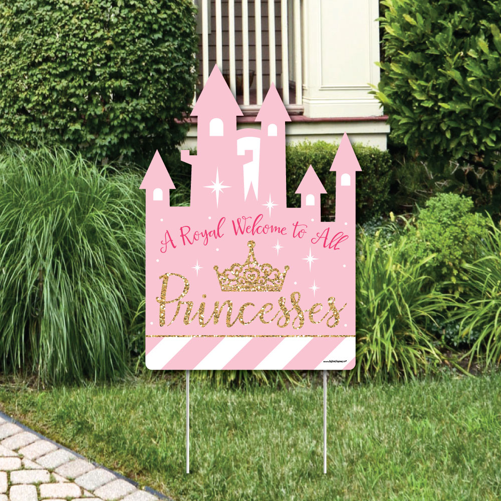 Little Princess Crown - Baby Shower or Birthday Party Welcome Yard ...