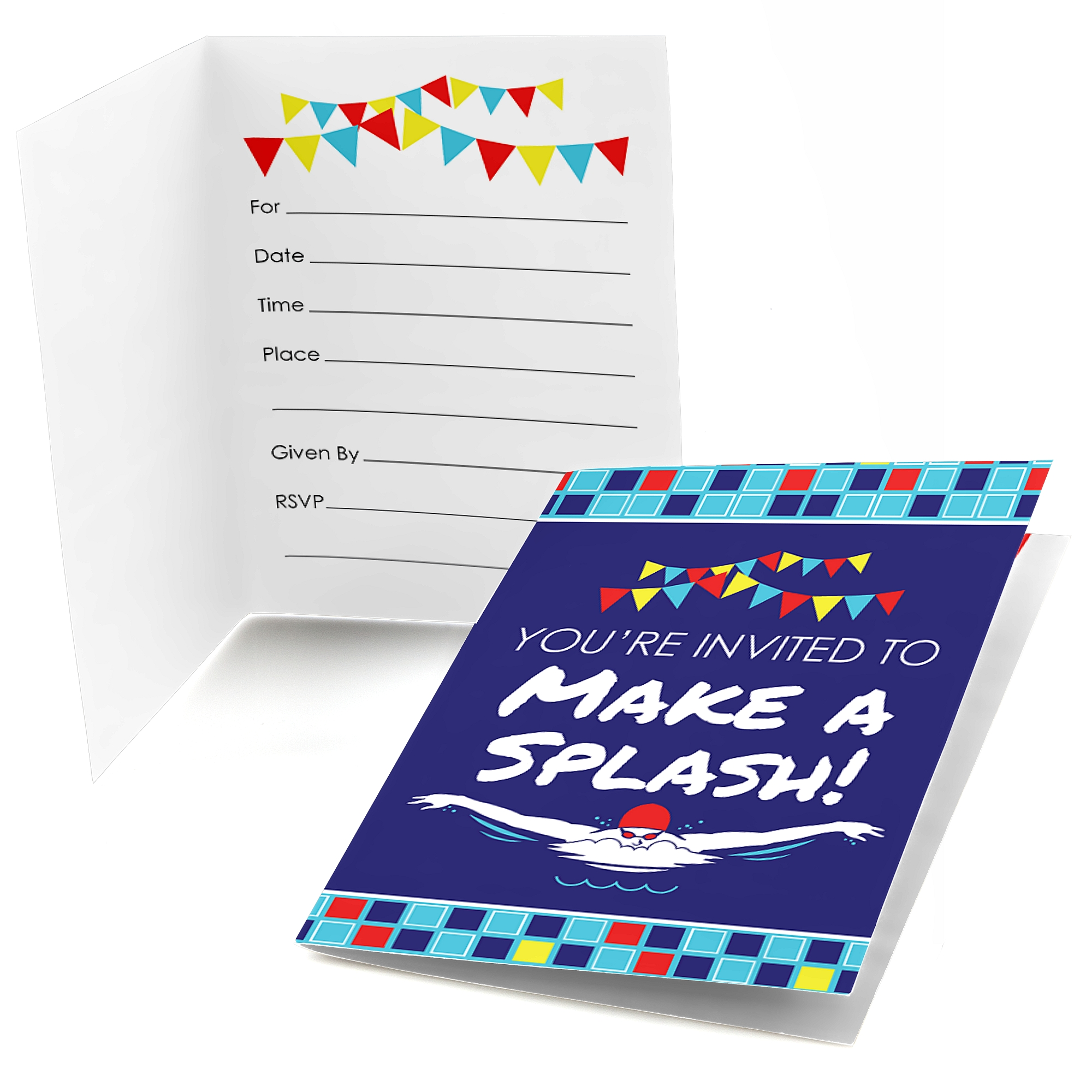 Making Waves-Swim Team-Fill In Swimming Party or Birthday Party ...