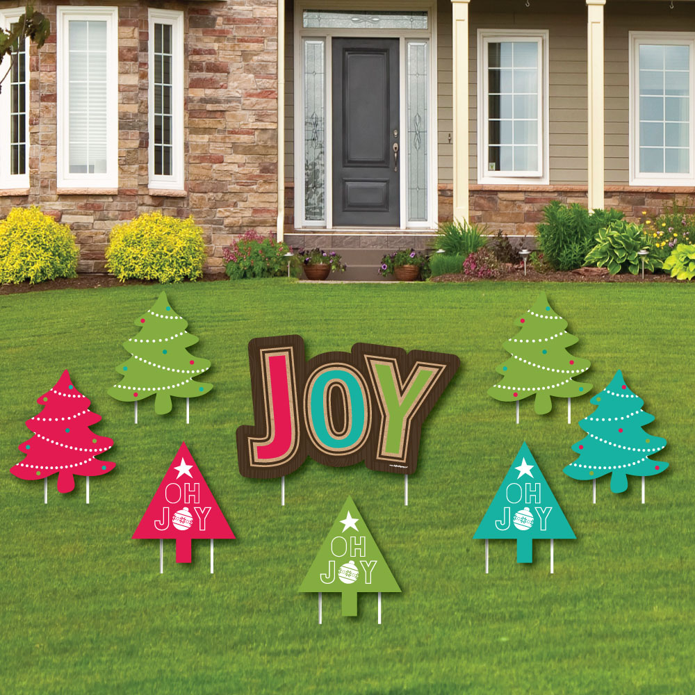 Joy - Yard Sign & Outdoor Lawn Decor - Holiday & Christmas Party ...