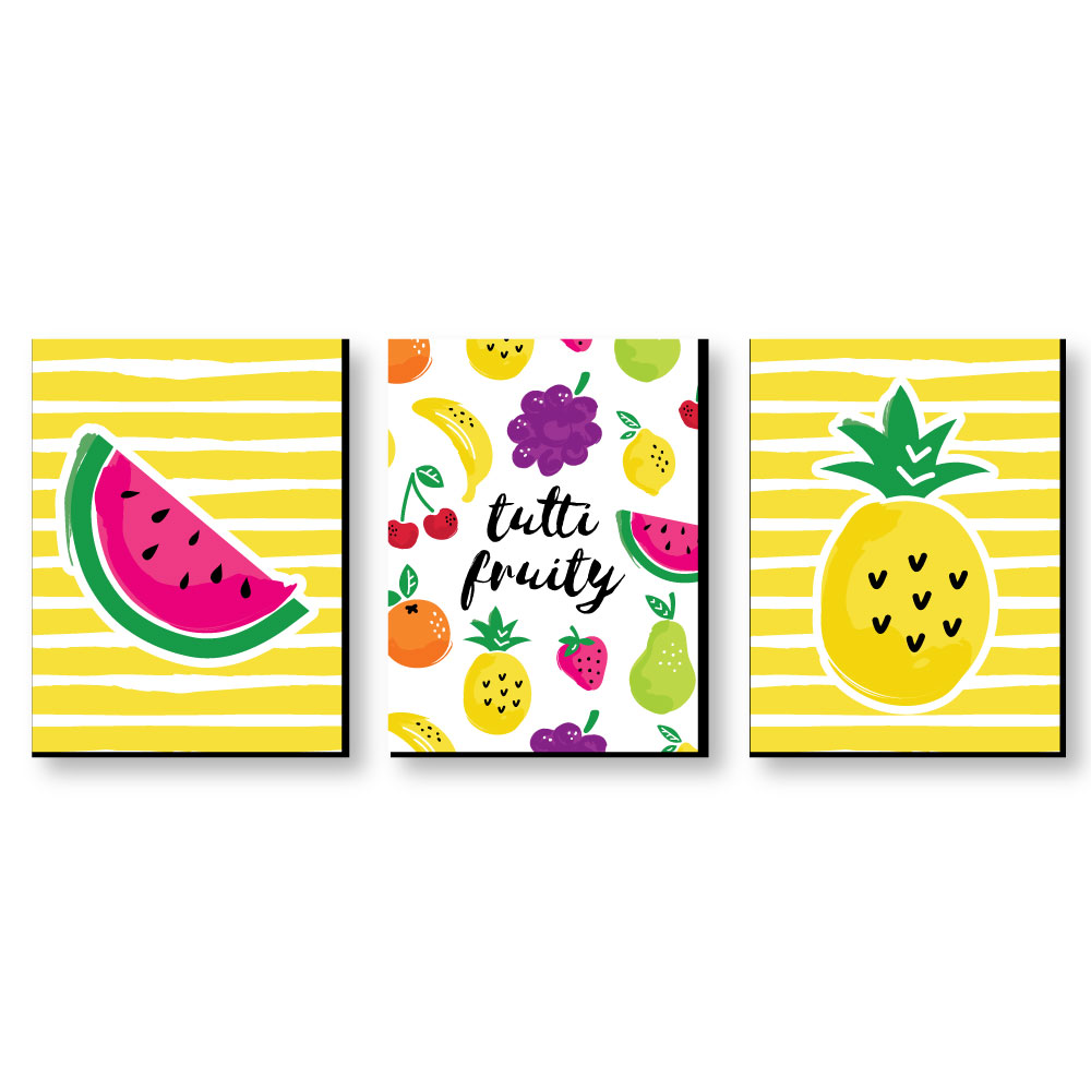 Tutti Fruity - Nursery Wall Art, Kids Room & Decor Home Decor - 7.5 ...