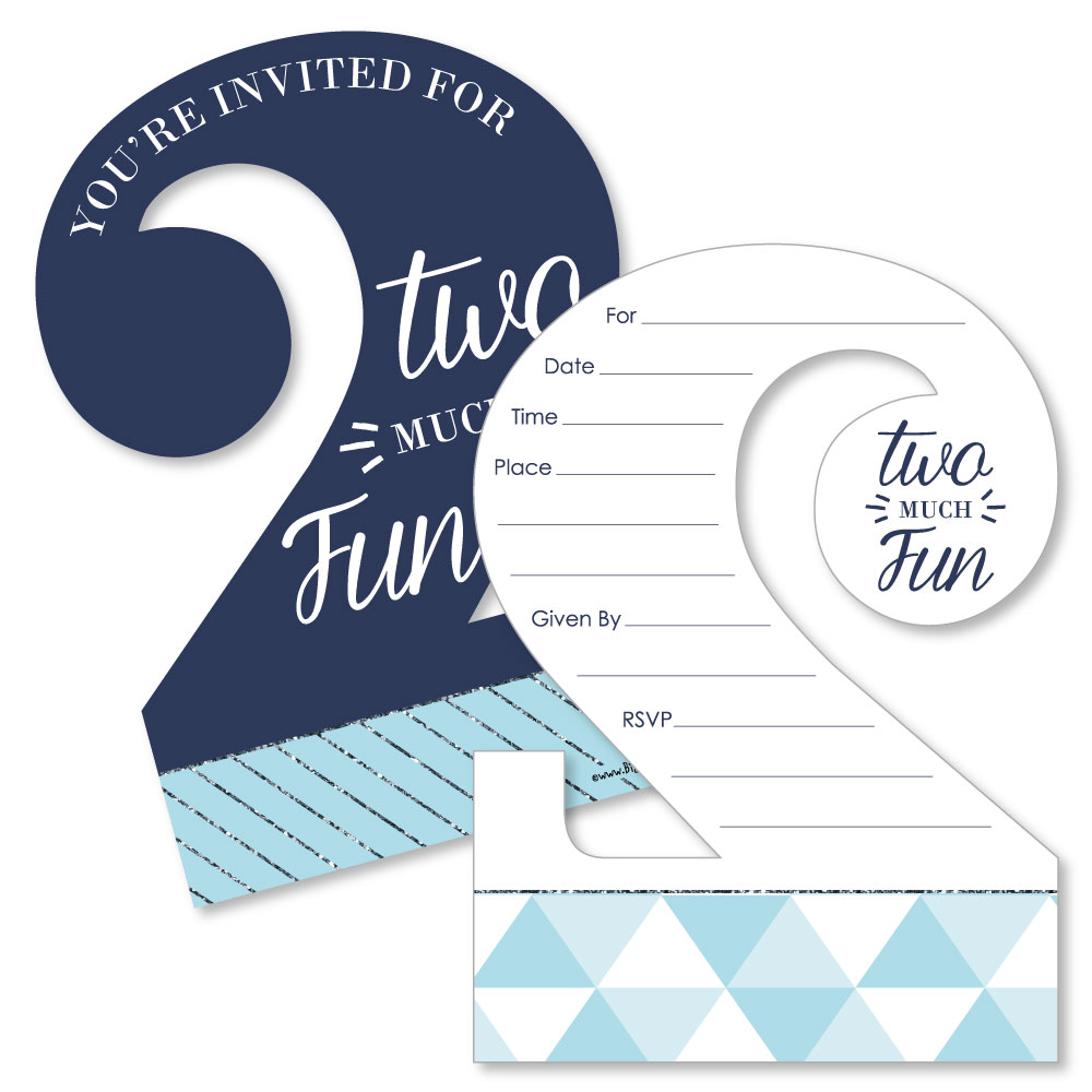 2nd Birthday Boy - Shaped Fill-In Invitations - 2nd Birthday Party ...