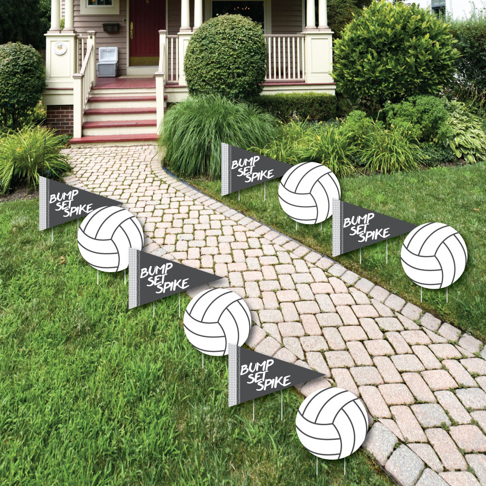 Volleyball Lawn Decor - Outdoor Baby Shower or Birthday Party Yard ...