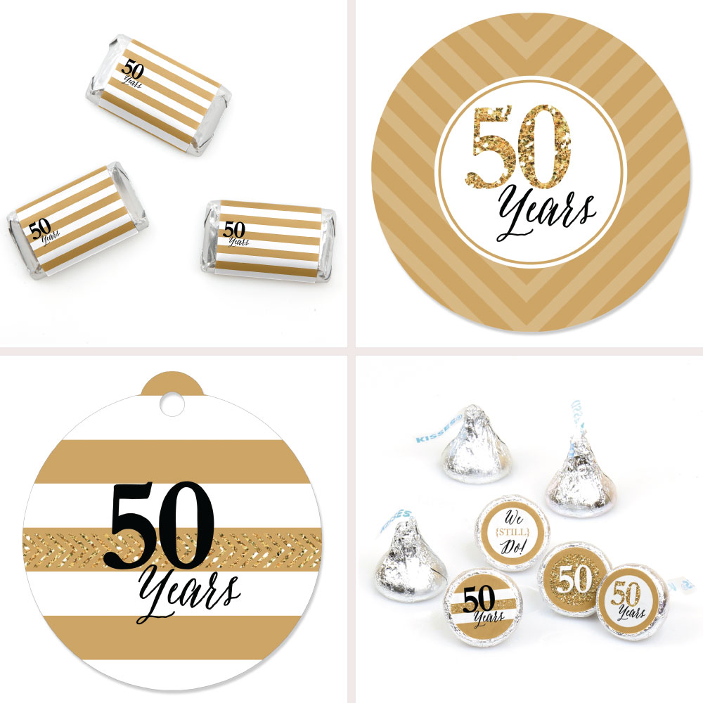 50th Wedding Anniversary - Party Decor Favor Kit - Party Stickers ...
