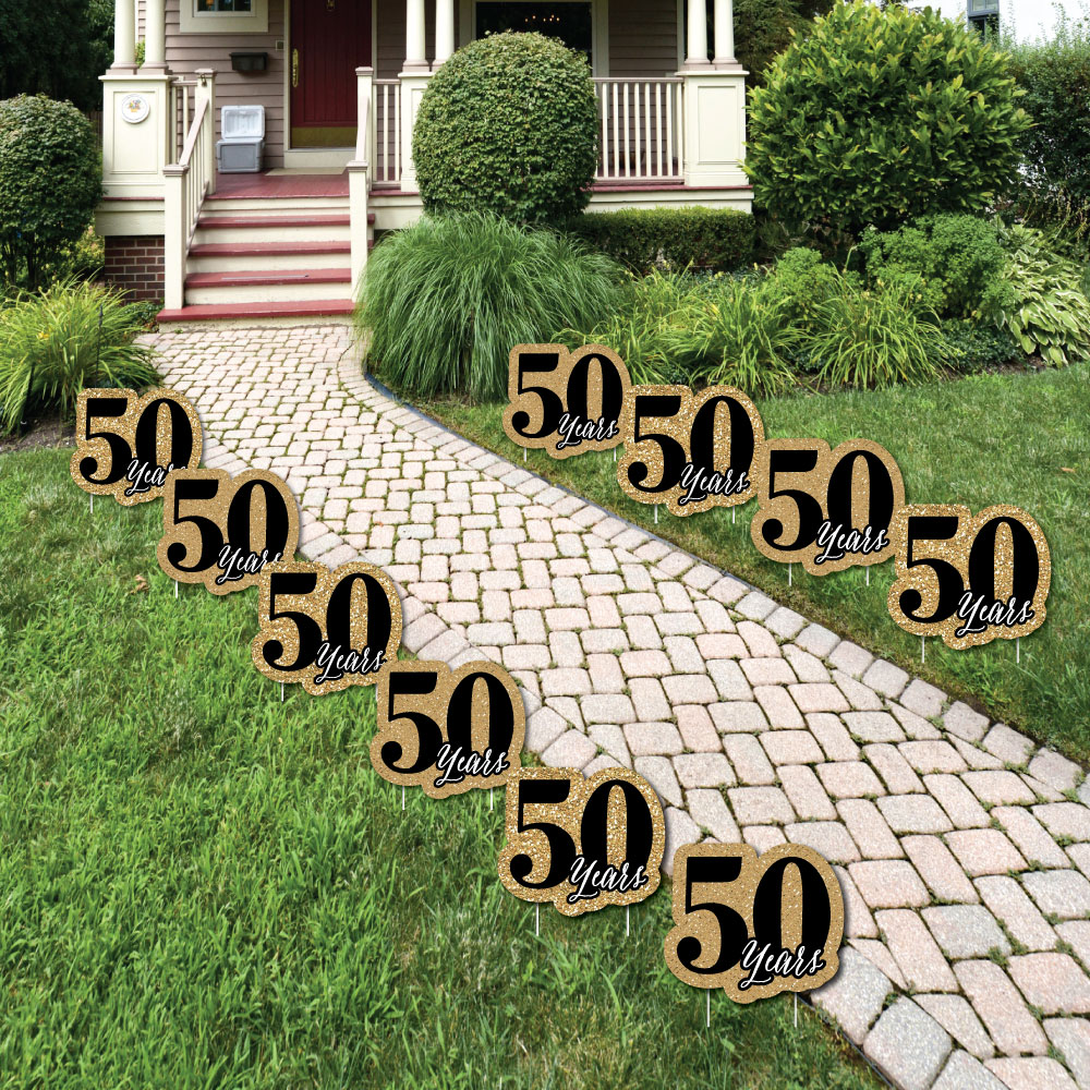 50th Wedding Anniversary - Outdoor Anniversary Party Yard ...