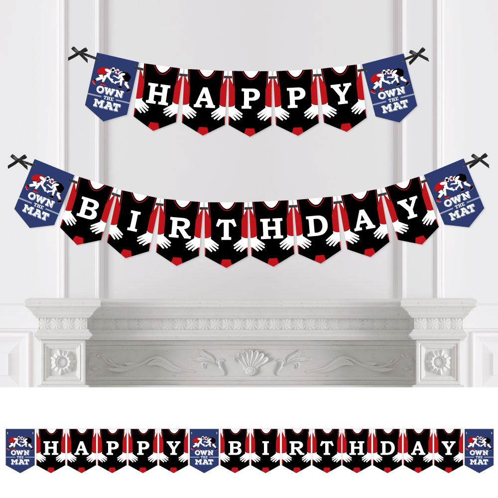 Wrestling - Birthday Party Bunting Banner - Birthday Party Decor ...