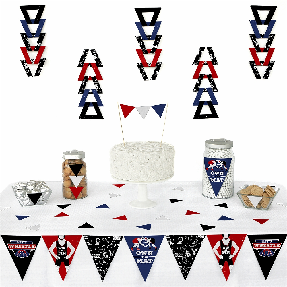 Own The Mat - Wrestling-Triangle Birthday or Wrestler Party ...