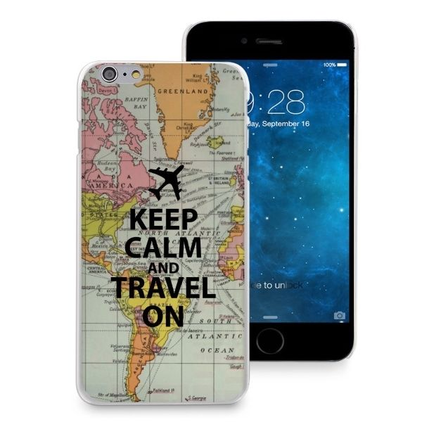 World Map Iphone 6s Case.Keep Calm Travel On World Map Case Thin Cover For Iphone 6 6s Plus 5