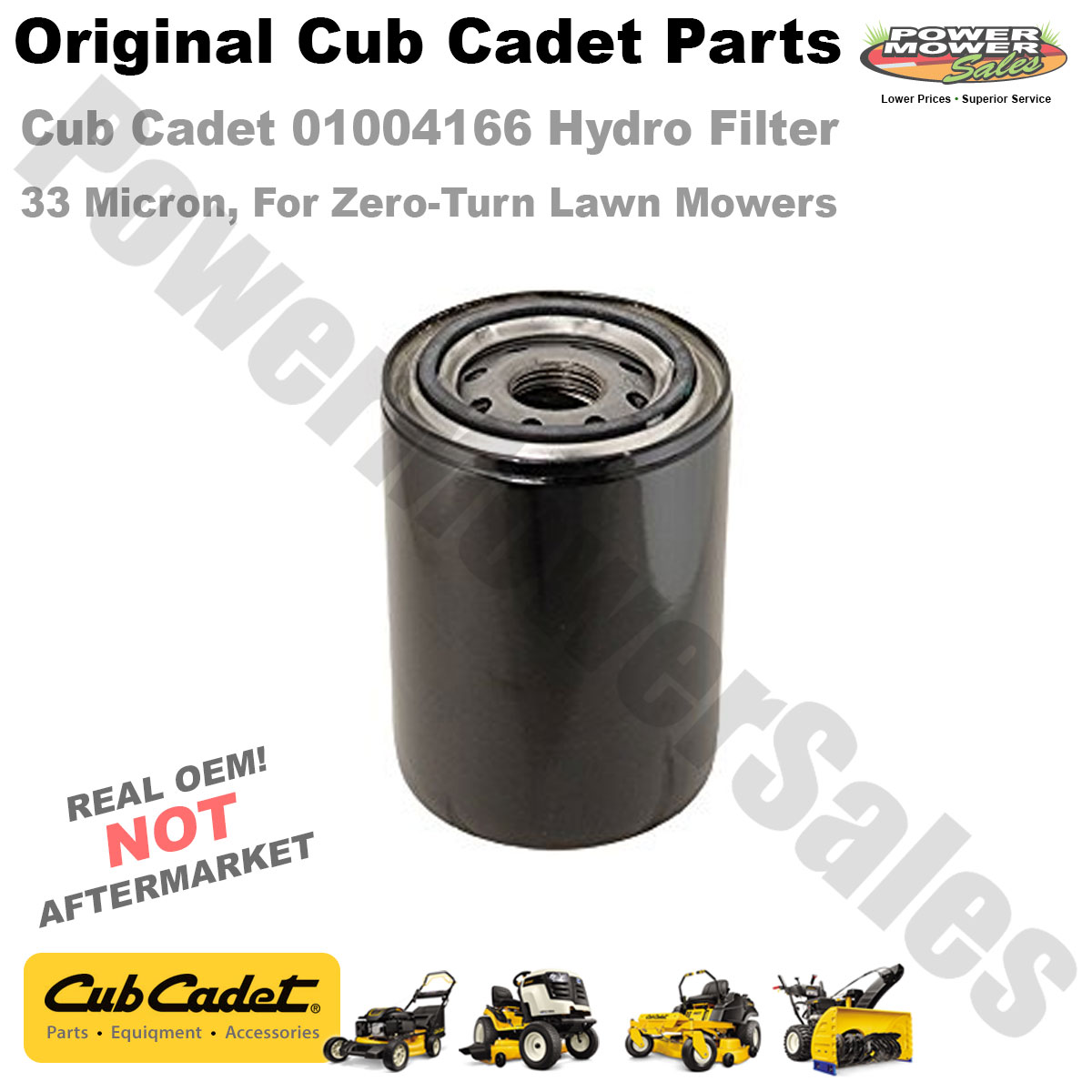 Details about Cub Cadet 01004166 Hydraulic Filter (33 Microns) for  Zero-Turn Lawn Mowers