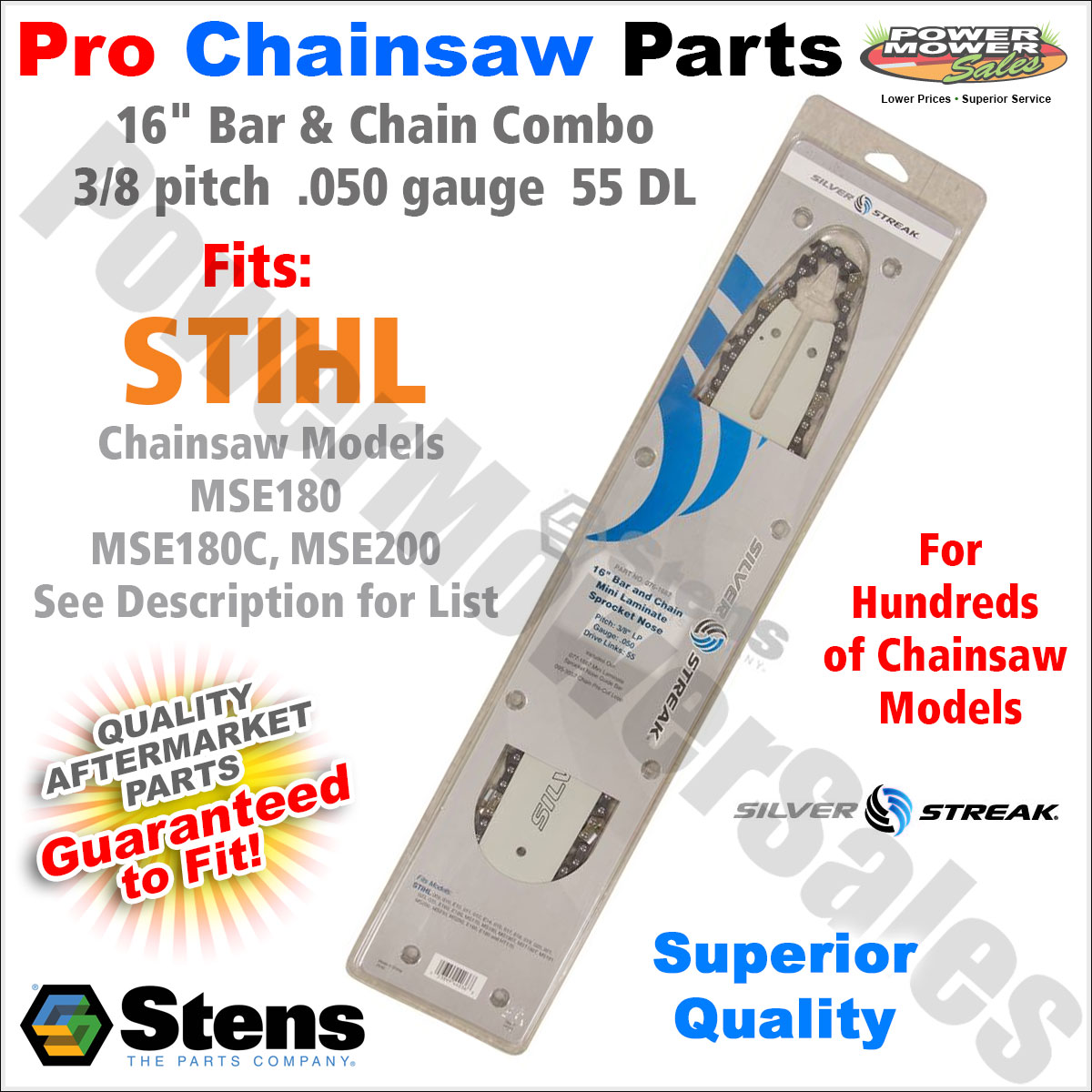"""MS201 MS191T 12/"""" Bar /& Chain for Stihl Chainsaws MS181 MS192 MS200 MS190T"""