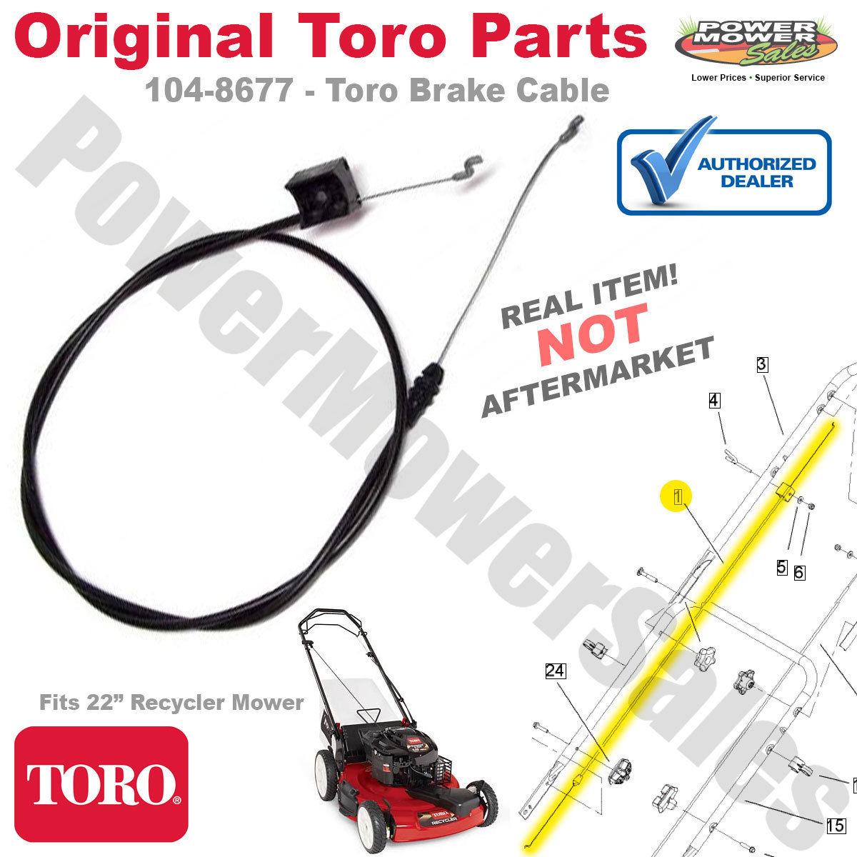 Details about 104-8677 Toro / Lawnboy Lawn mower Brake Cable - Original  Toro Part!!
