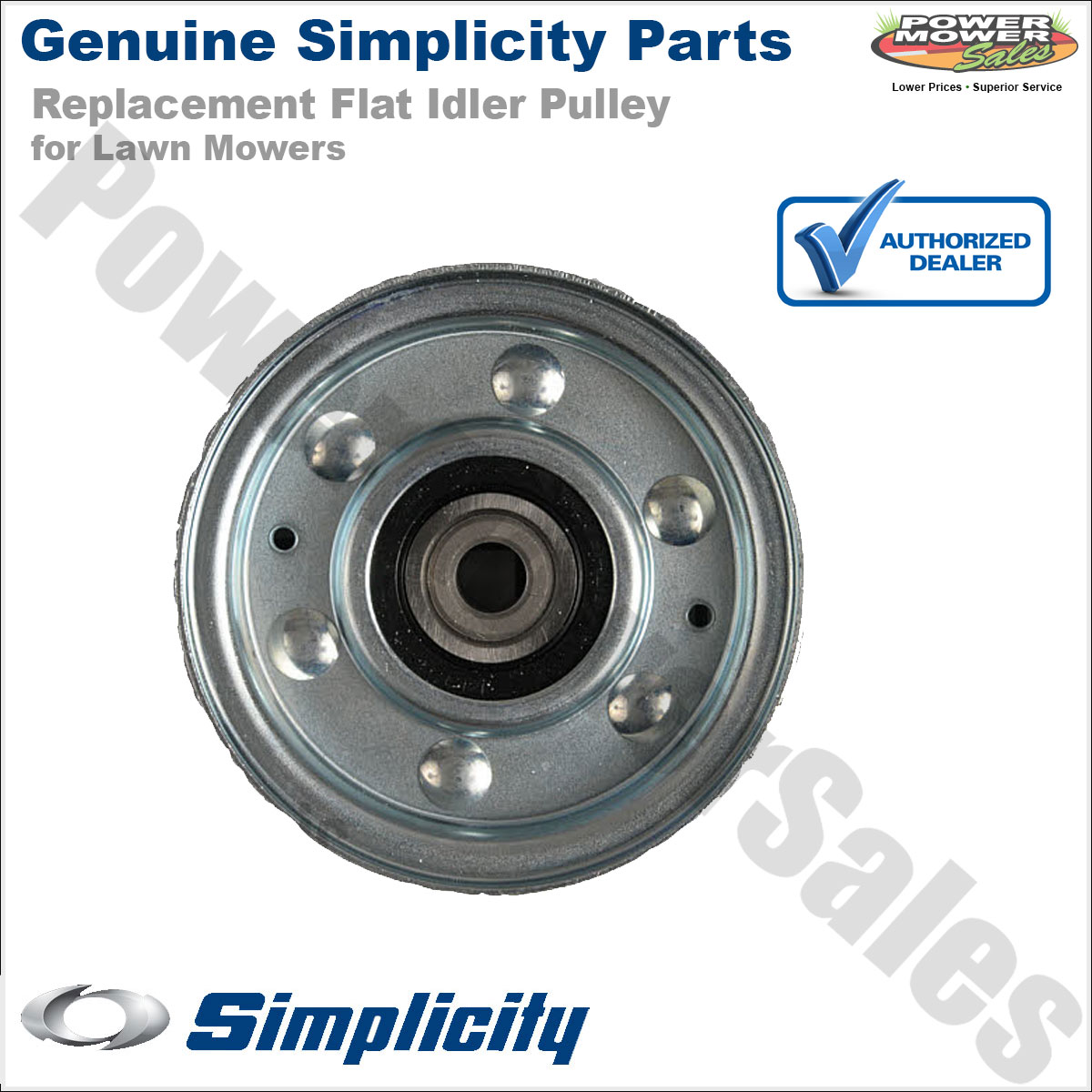 Details about 1721133SM 1707289 Simplicity Snapper Flat Idler Pulley on