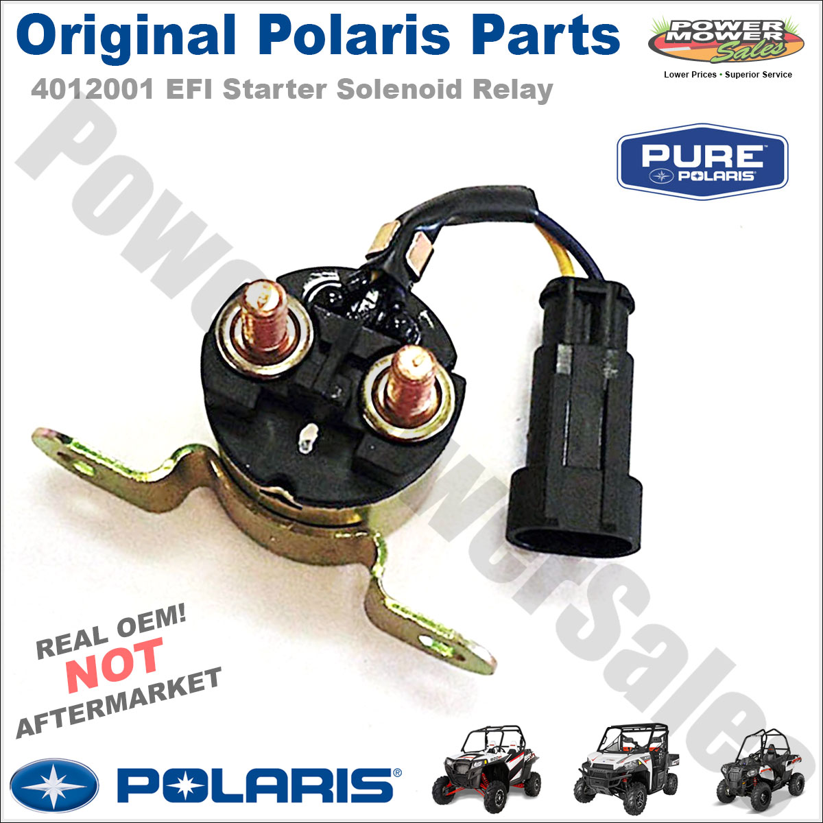 Details about 4012001 Polaris Starter Solenoid Relay 2010 - 2011 Ranger 400  500 800 HO Crew