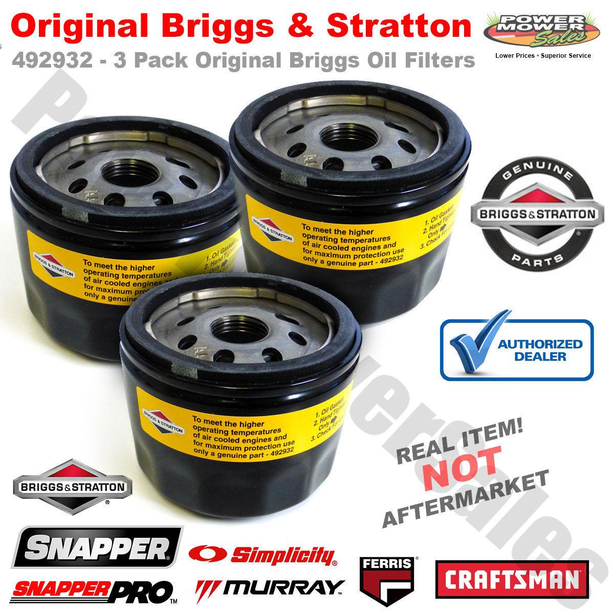 Briggs /& Stratton Oil Filter 492932