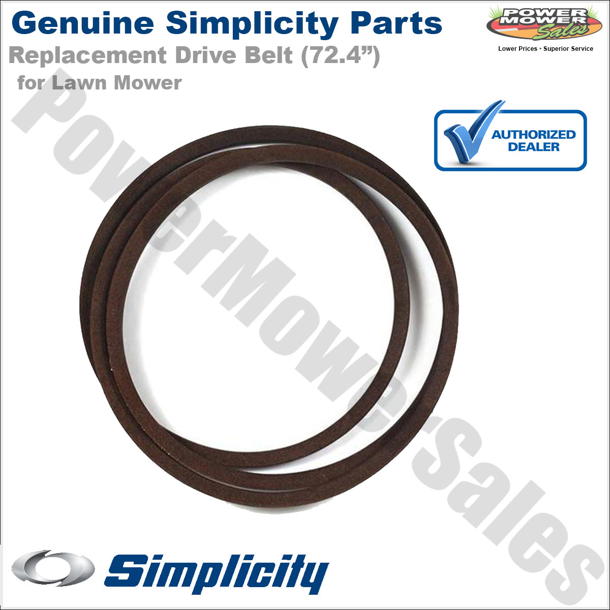 """Simplicity Snapper Belt 5V-Sec, 158.90EL for Mowers w// 48/"""" Decks 5103929YP"""