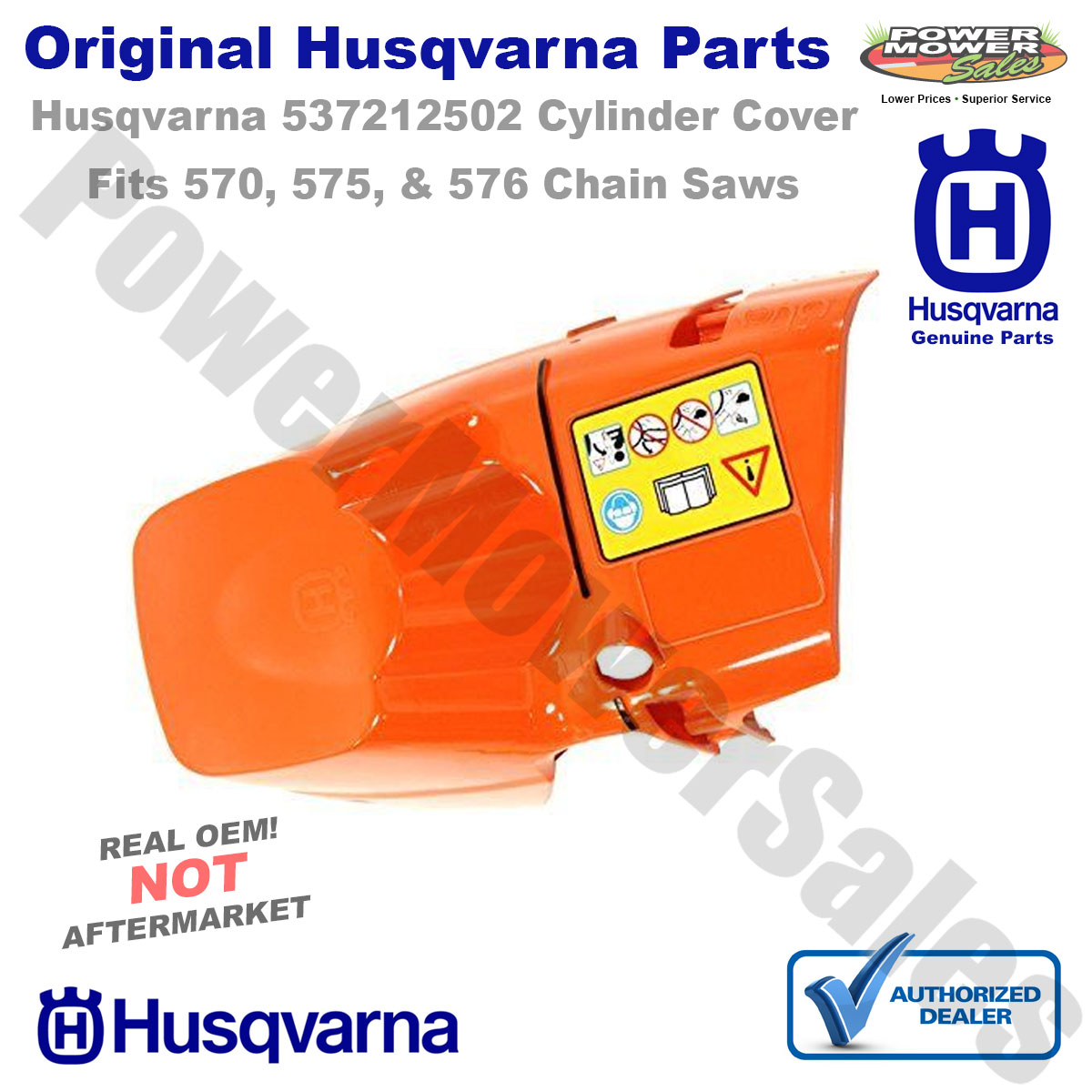 OEM Top Cylinder Cover Husqvarna 570 575 576 XP EPA Chainsaws 537212502