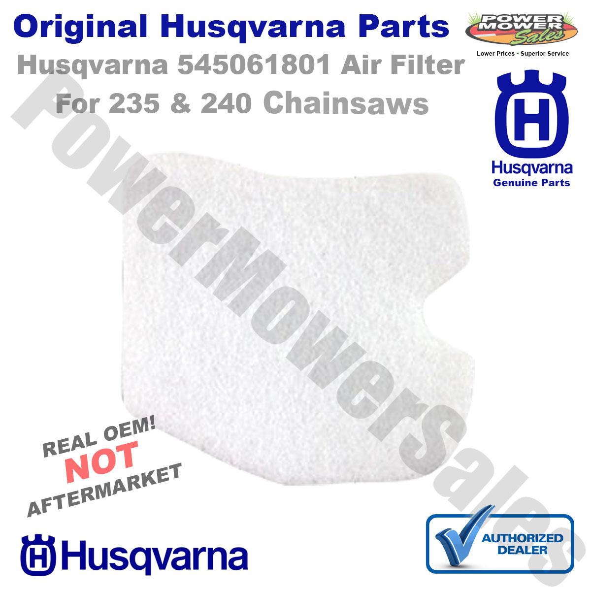 Husqvarna Part Number 545061801 Air Filter