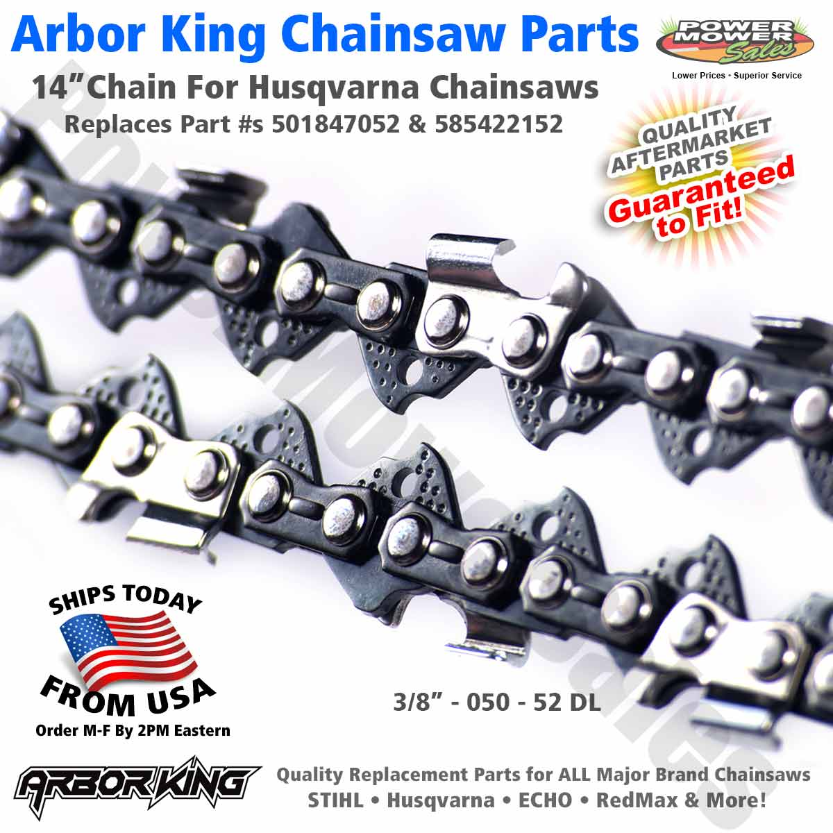 """OEM Saw chain for Echo CS-303T with 14/"""" bar NEW MADE IN USA"""