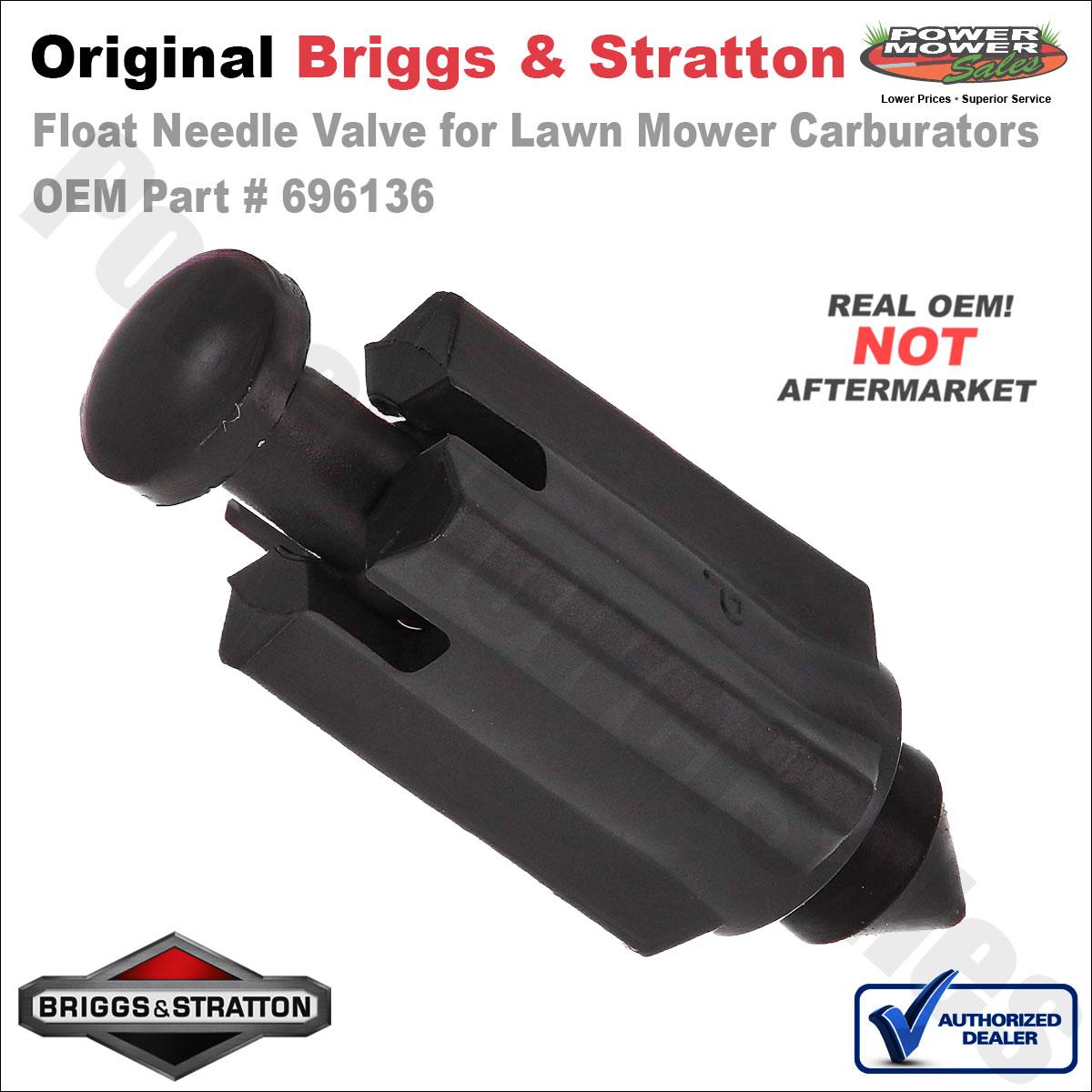 Float Needle Valve For Mower Carburators    Briggs  U0026 Stratton 696136 694922