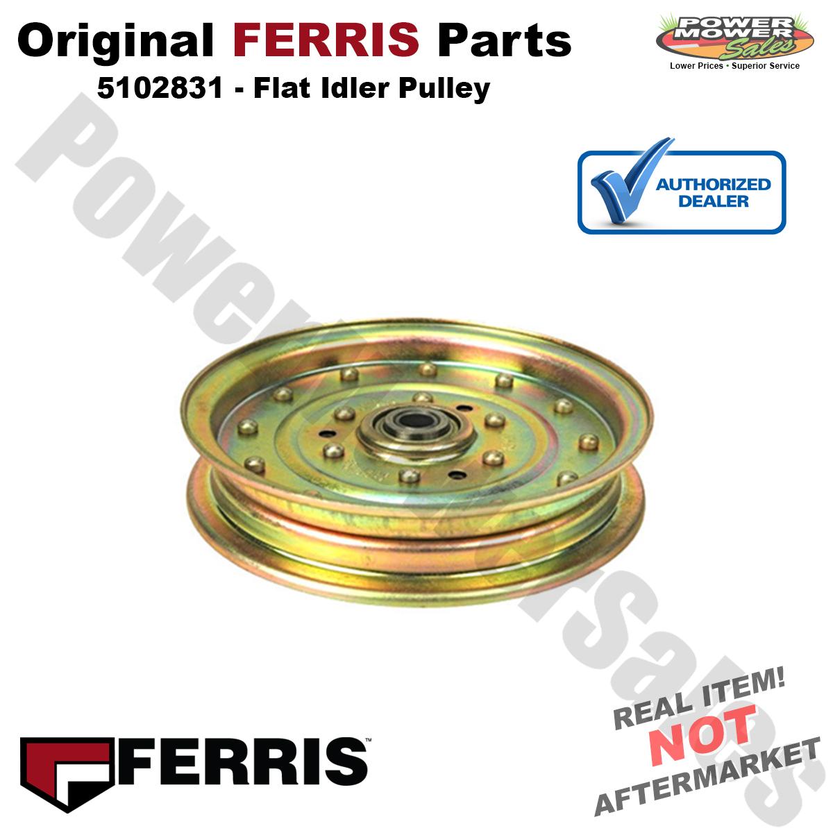 Ferris 5104191 Pulley Flat Idler 3-1 4 Flan