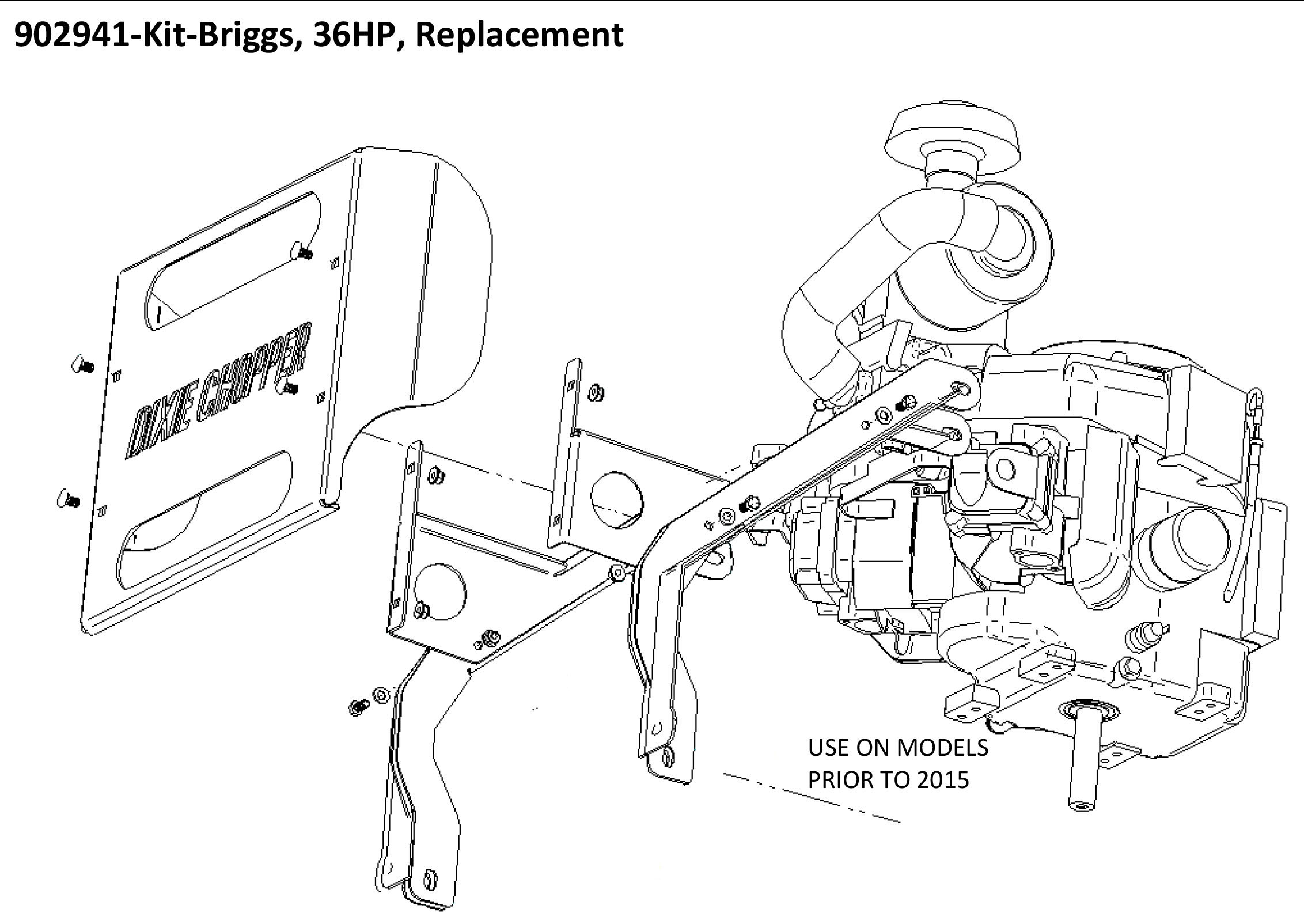 details about 902941 dixie chopper engine kit for 36 hp vanguard electric  clutch engines
